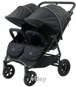 Tout Neuf! Valco Baby Neo Twin Double Légère Poussette Tout-terrain Noir