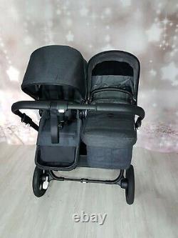 Tout Nouveau Bugaboo Donkey 3 Minéral Lavé Black Twin Landau Rrp £1799.95