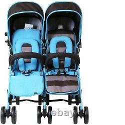 Tout-petit Bébé Double Twin Pliage Poussette Poussette Travel Buggy Nouveau Nouveau-né