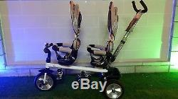 Tricycle Pour La Sécurité De Poussette De Jumeaux Double Le Siège De Bébé Et Le Tricycle De Panier