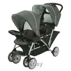 Twin Baby Double Poussette Pliage Voyage Tandem Cart Porte-sièges Bébé Nouveau