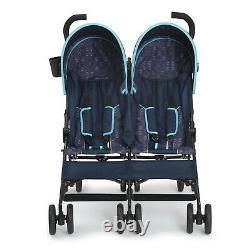 Twin Baby Double Poussette Toddler Pushchair Pliant Porte-voyage Sécurité Des Bébés