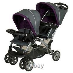 Twin Double Poussette Bébé Enfants Sit N Stand Toddler Système De Voyage Pushchair Noir