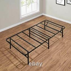 Twin Size Bed Frame Metal Platform Heavy Duty Matelas Foundation Base Pliante