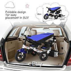 Twins Polyvalent Double Kid Facile Steer Poussette Enfants Tricycle Amovible