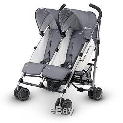 Uppababy Poussette Double Twin G-link Pascal Gris / Argent