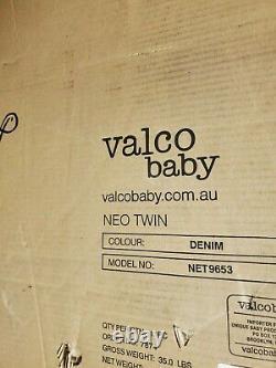 Valco Baby Neo Twin Double Léger All Terrain Poussette Nouvelle Livraison Gratuite