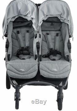 Valco Baby Neo Twin Poussette Double Pour Bébé Tout-terrain Léger Tout Gris