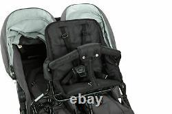 Valco Baby Twin Tri Mode Duo X Double Poussette Triple Dove Grey Avec Siège Pour Tout-petit