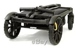 Veer All Double Cruiser Wagon Poussette Double Enfants Avec Canopée Gris / Noir