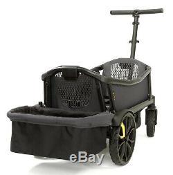 Veer All Double Cruiser Wagon Poussette Double Pour Enfants Avec Auvent Et Panier Gris
