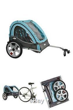 Vélo Pliant Remorque Enfant Porte-vélo Double Twin Enfant Bébé Bébé Chien
