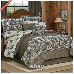 Whitetail Dreams Cotton Comforter Set De Literie 4 Pièces King Queen Twin Taille