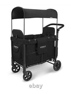 Wonderfold Wagon W2 2 Seater / Nouveau Né À Black. Pram Jumelle Pram Avec Raincover