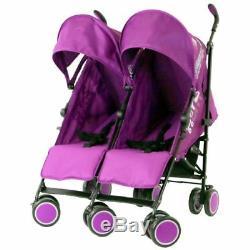 Zeta Citi Twin Poussette Buggy Poussette Prune (violet) Poussette Double