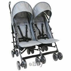 Zeta Twin Double Gris Poussette Buggy Poussette Landau Inc Raincover